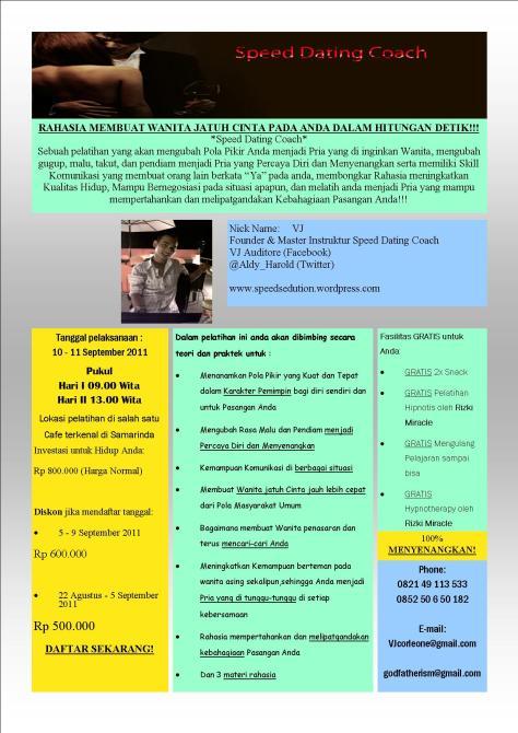 Speed Dating Premium Workshop 2011